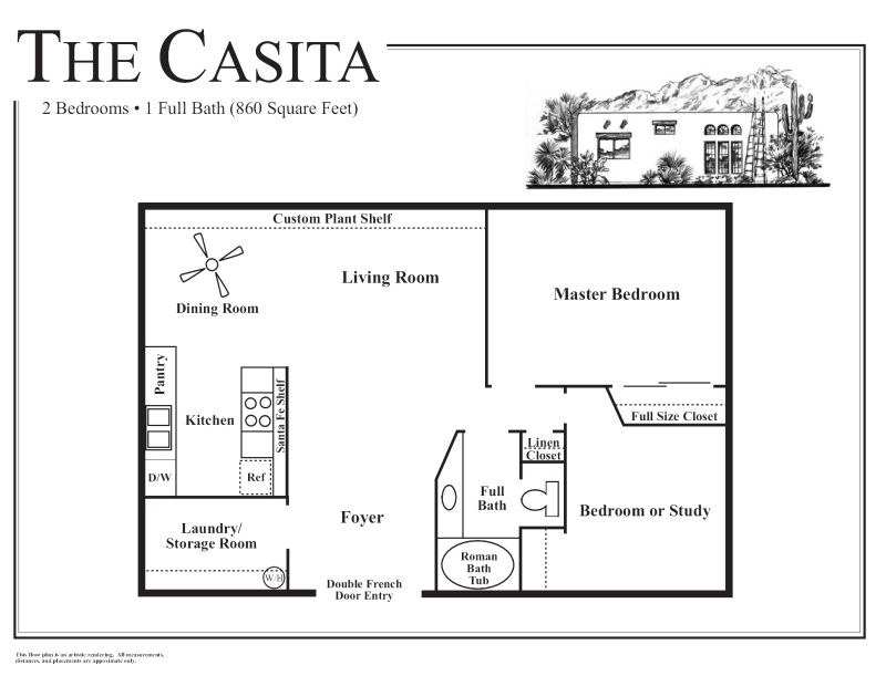 Tucson Rental Homes 2 Bedrooms 1 Bathroom Casita