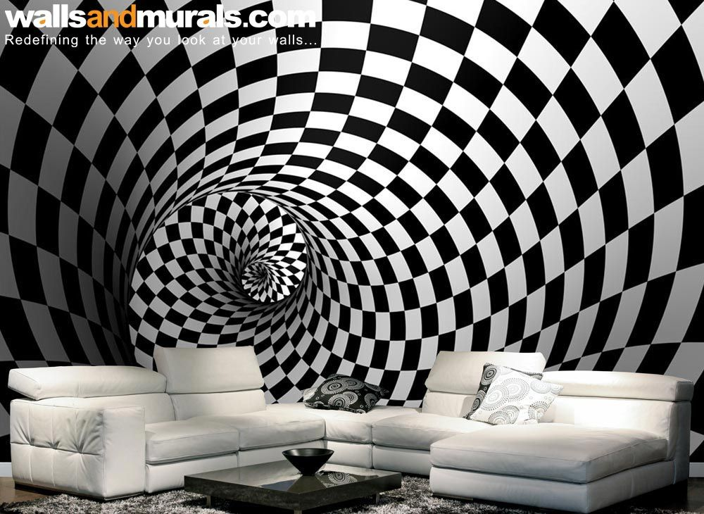 3d swirl maze black and white wallpaper cool graphics wallpaper custom wallpaper white. Black Bedroom Furniture Sets. Home Design Ideas