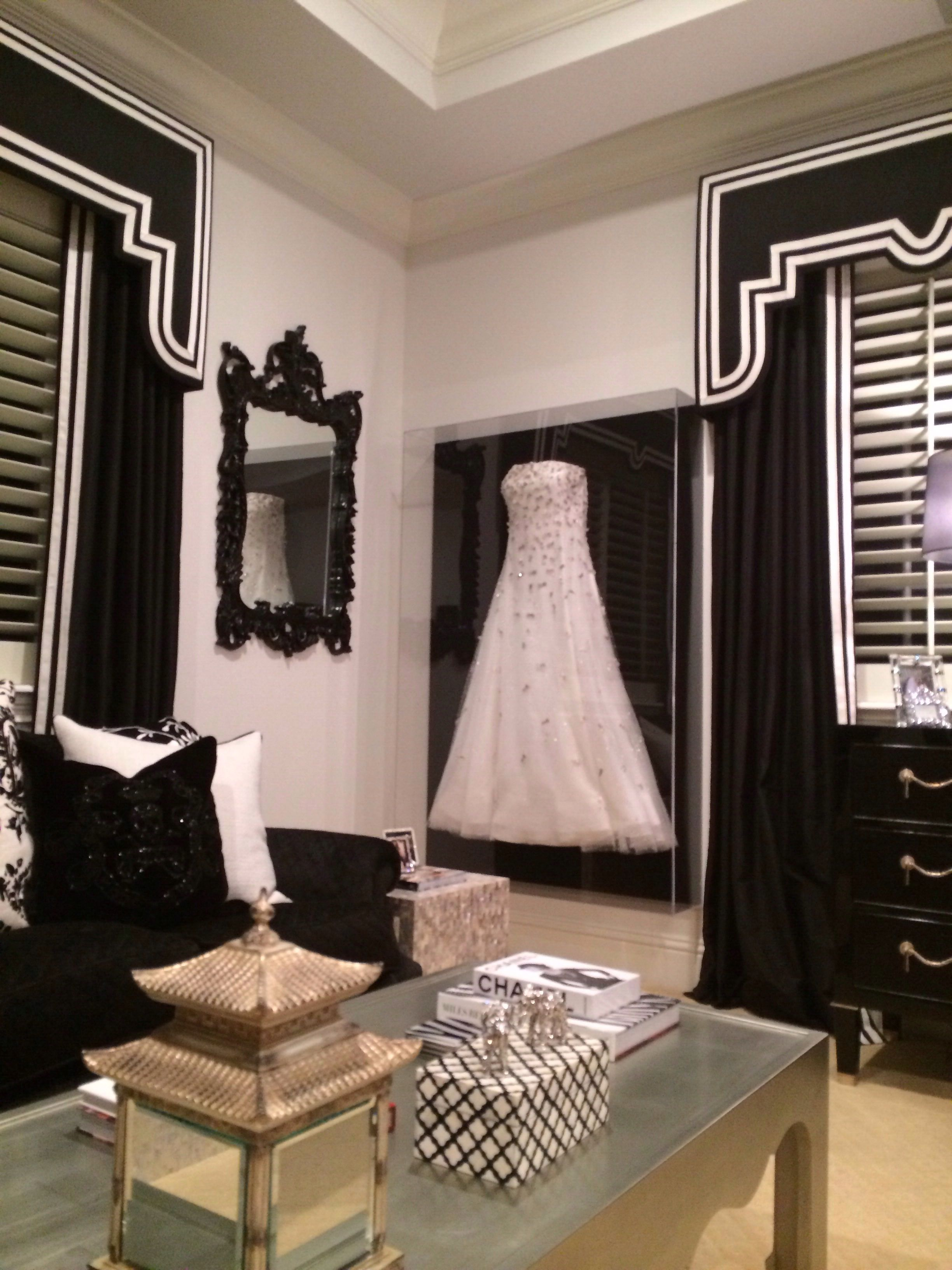 Framed wedding dress in closet...would look great on the