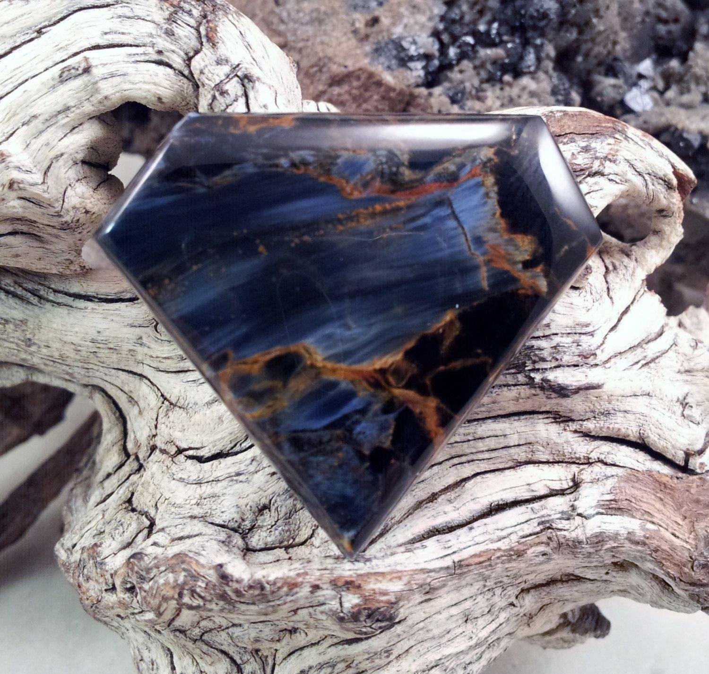 Pietersite Handmade Designer Gemstone Cabochon by txrockhound, $65.00