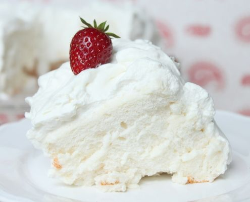 Angel Food Cake Recipe Angel food cakes Food cakes and Cream