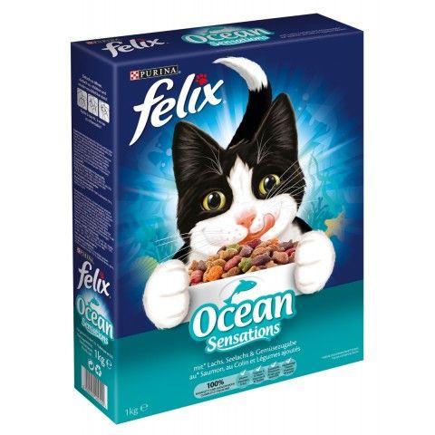 Felix Ocean Sensations Trockenfutter Katzenfutter Katzen Futter