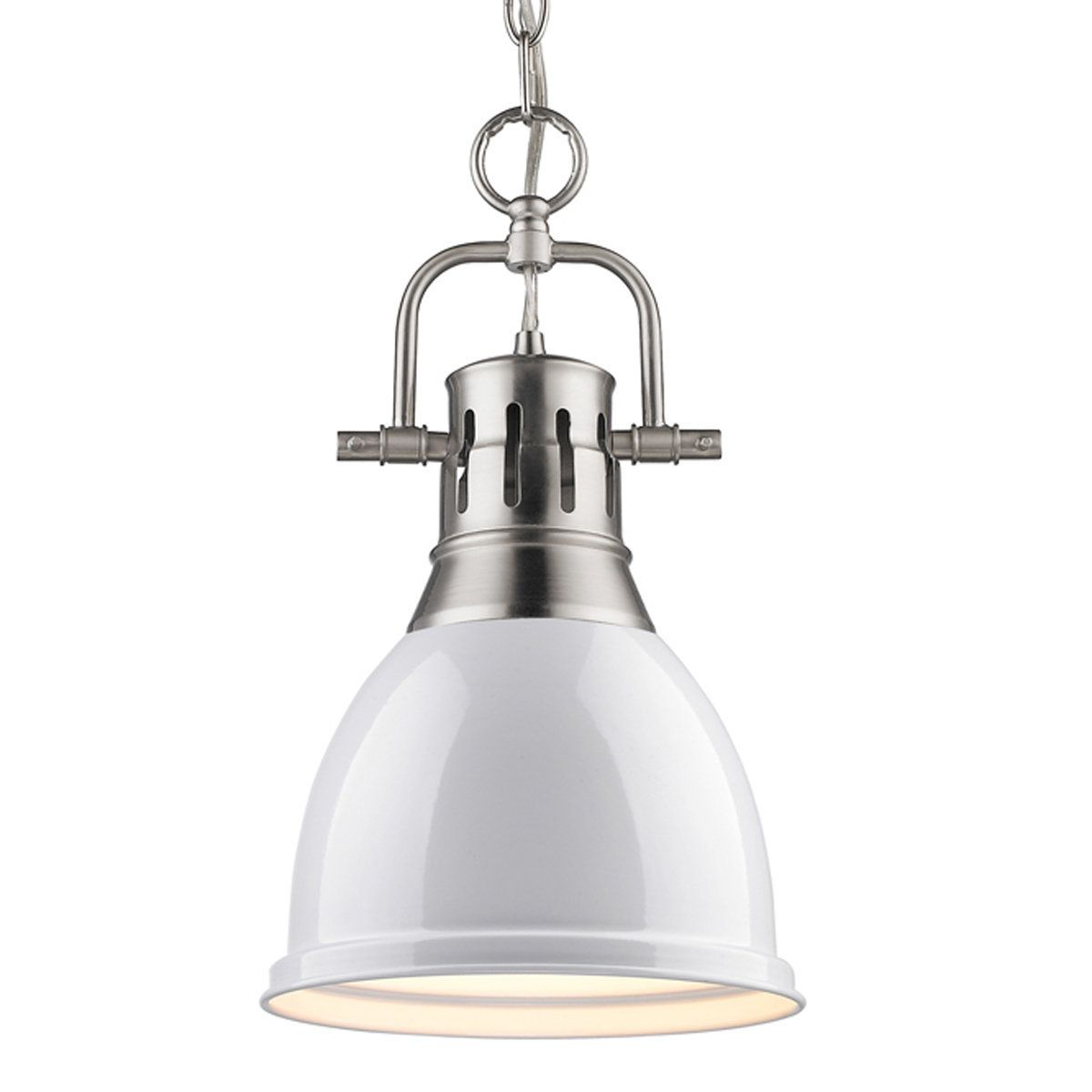 Classic Dome Shade Pendant Light With Chain Small White Pendant Light Small Pendant Lights Pendant Lighting