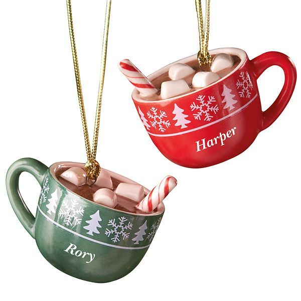 forever friends hot cocoa mug 2 ornament set by lenox