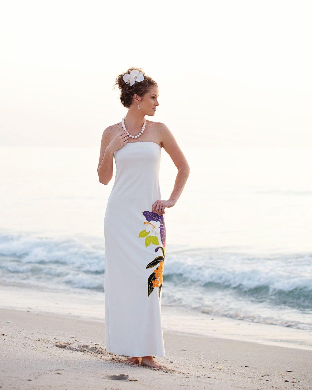 Ishkabibbles Strapless Hawaiian Beach Wedding Dress Large Hawaiian Floral Pattern 499 00 Beach Wedding Dress Lace Beach Wedding Dress Hawaiian Wedding Dress [ 1500 x 1201 Pixel ]