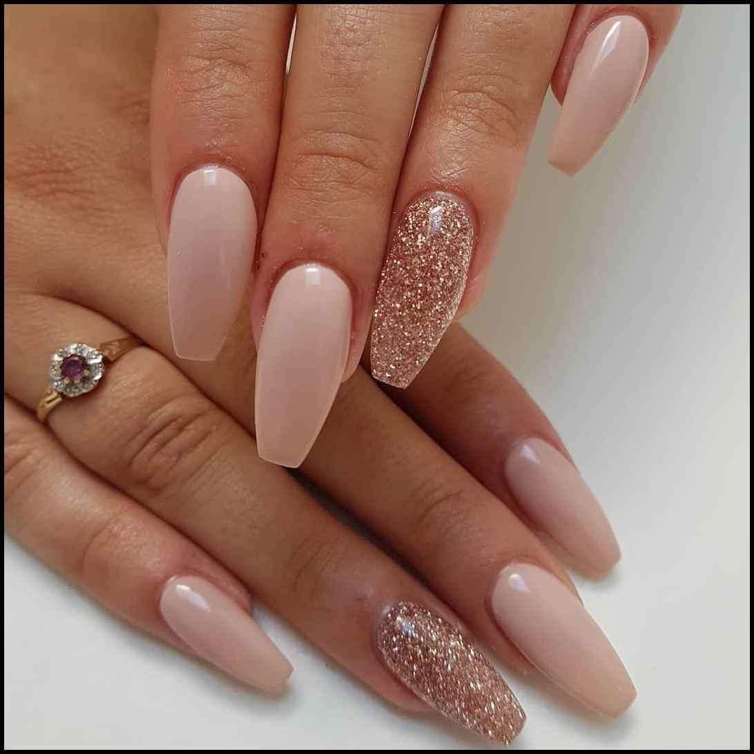 Top 100 Coffin Nail 2019 Camaxid Com Rose Gold Nails Glitter Rose Gold Nails Acrylic Gold Acrylic Nails
