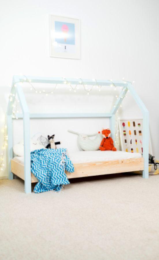 Diy kinderbett mit stabiler dachkonstruktion das zum hingucker im kinderzimmer wird - Kinderzimmer echtholz ...