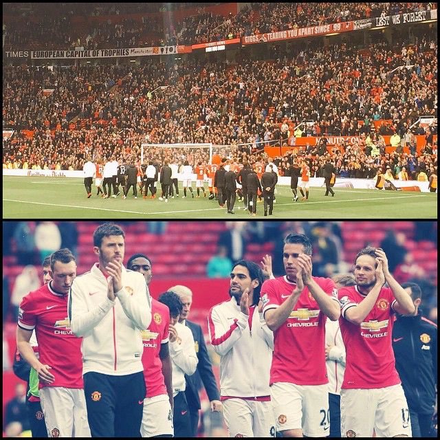 """Daley Blind: """"Thanks for your support all season, my first year and i noticed that old trafford is a special place.  #MUFC"""" 17.5.2015"""