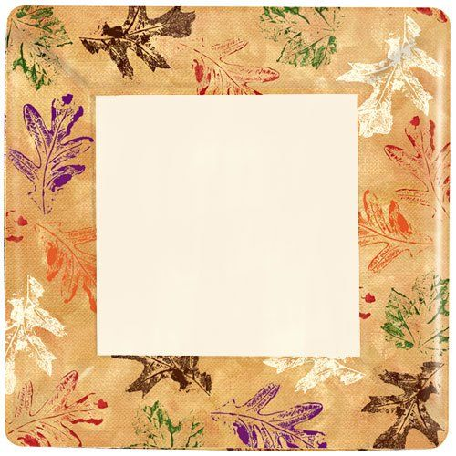 Hanna K Signature Collection 12 Count Square Leaves Paper Plates 1025Inch >>> Find out more about the great product at the image link.