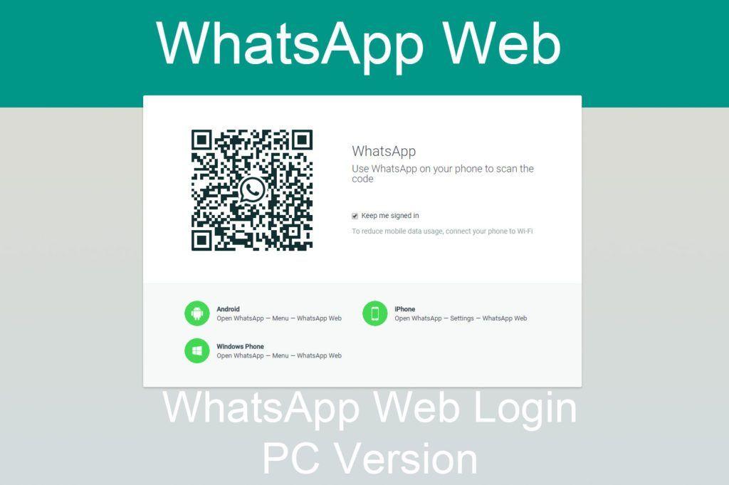 Whatsapp Web Login Web Version For Pc Kikguru Gmail Sign Free Music Video Login