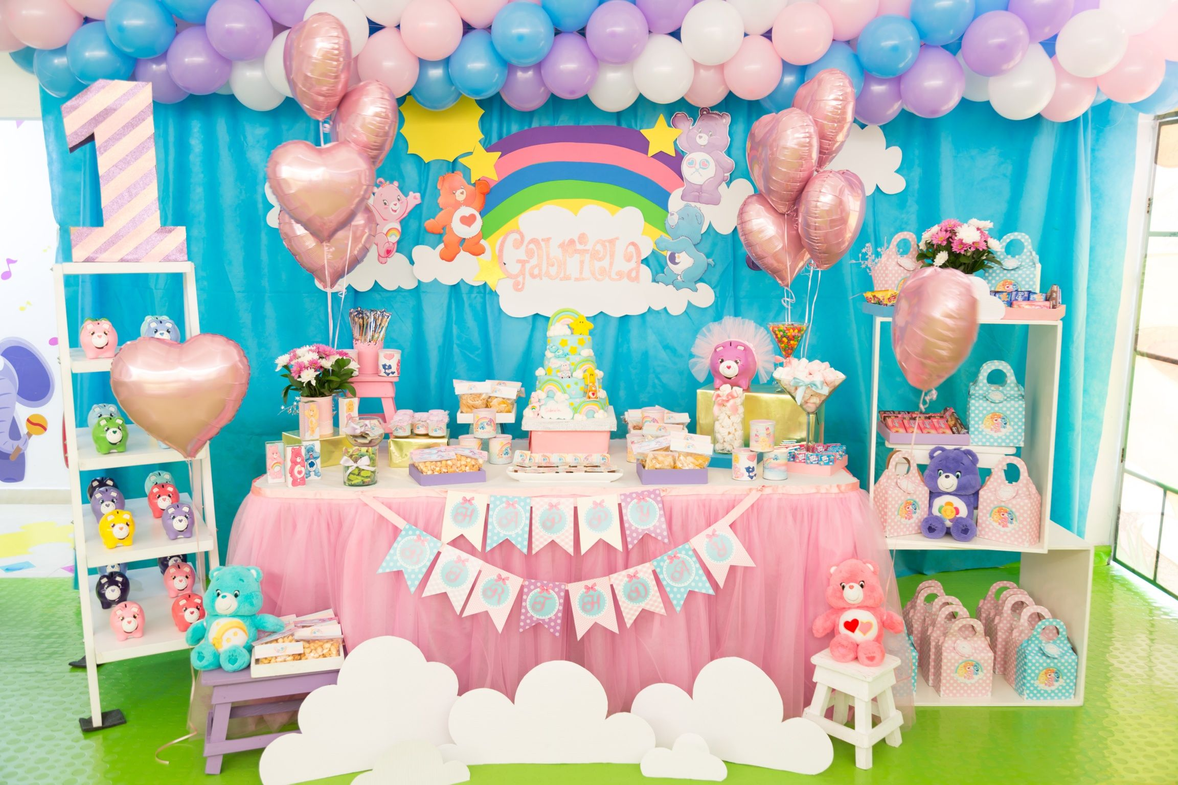 care bears first birthday party first birthday ideas