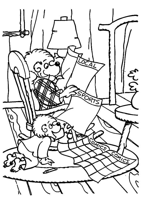 Print Coloring Image Momjunction Bear Coloring Pages Coloring