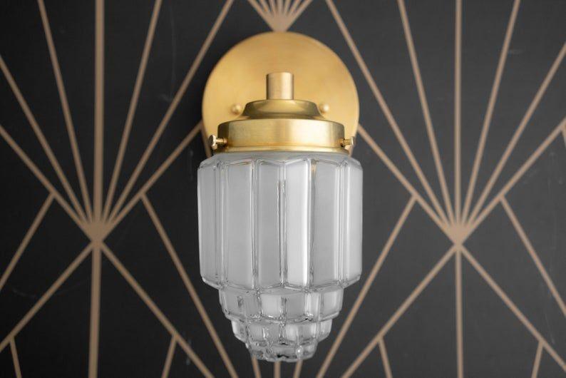 Wall Light Art Deco Art Deco Lights Art Deco Sconces Etsy In 2020 Art Deco Lighting Light Art Wall Lights