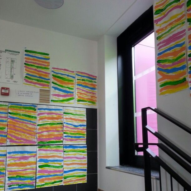 Lignes horizontales à la manière de Denise Duplock
