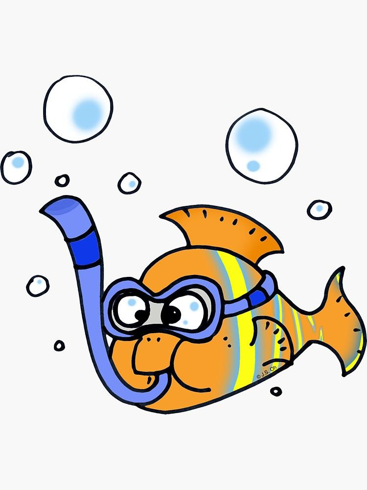 Funny Tropical Fish Cartoon Sticker By Cutecartoon Fish Cartoon Drawing Cartoon Fish Cartoon Stickers