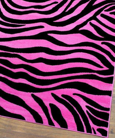 Pink Zebra Rug Zulily