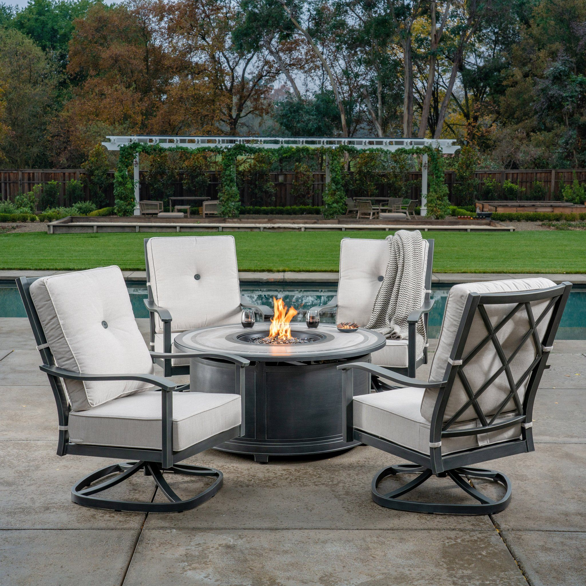 With Classic Clean Lines Ultra High Backs And Premium Tile Top Tables The Carnegie Collect Outdoor Furniture Sets Outdoor Living Areas Outdoor Living Space