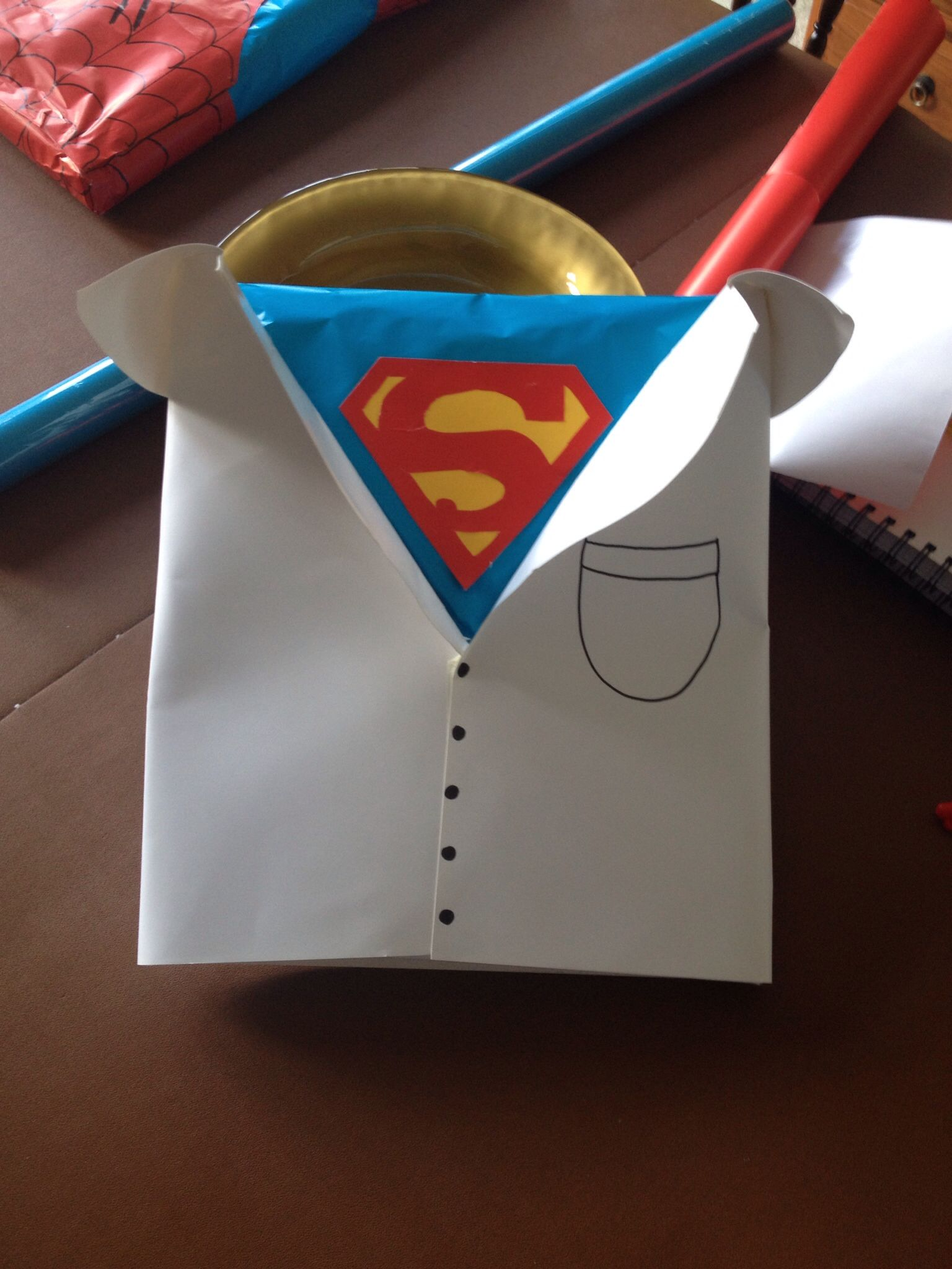 superman wrapping paper