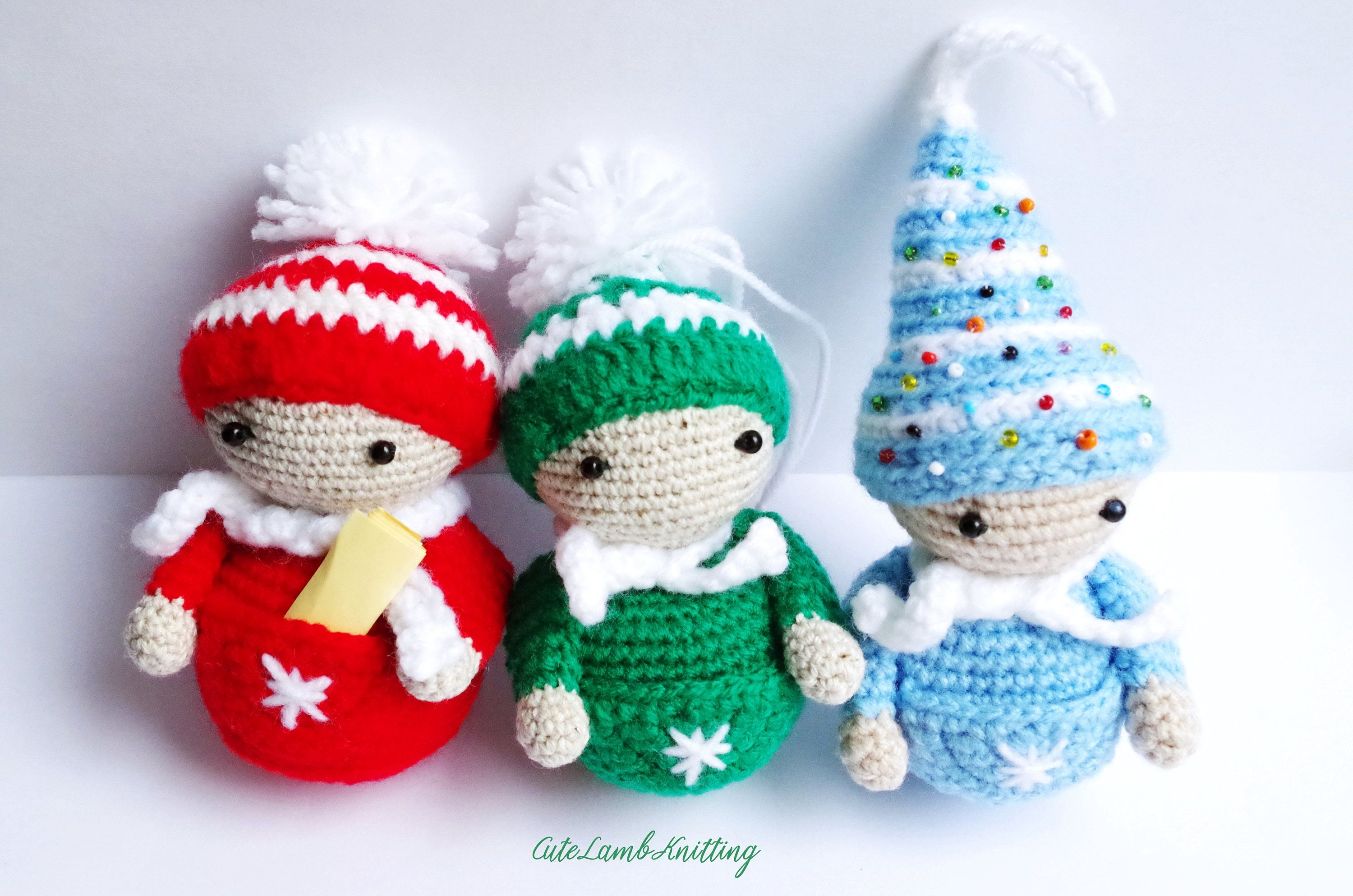 knitting christmas decorations