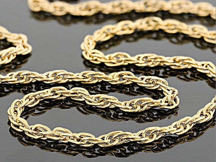 10k Yellow Gold Hollow Rope Chain Necklace 20 Inch Rope Chain Gold Chain
