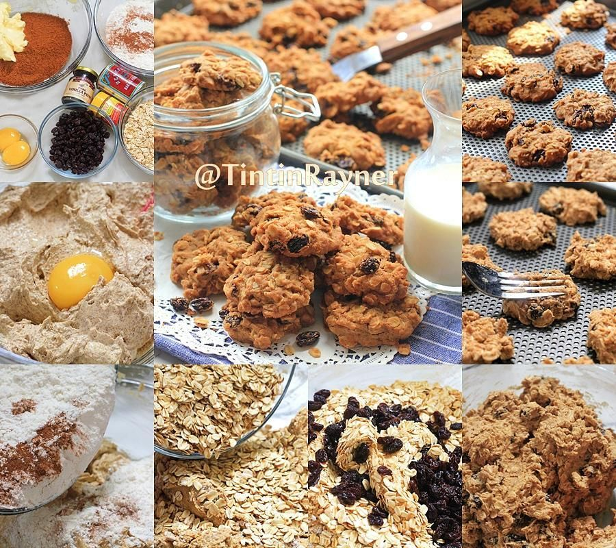 Tintin Rayner Di Instagram Crunchy Oatmeal Cookies Crunchy Less Sugar Delicious Recomenced Made By Tintinrayner Source By Lilyminar Kue Kering Brownis Kue