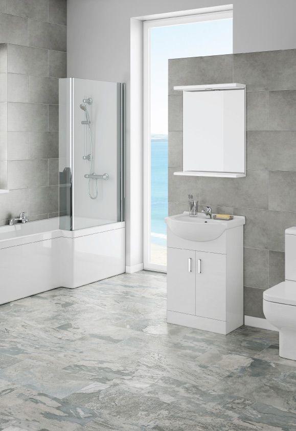 Cove Modern Shower Bath Suite | Victorian Plumbing UK ...