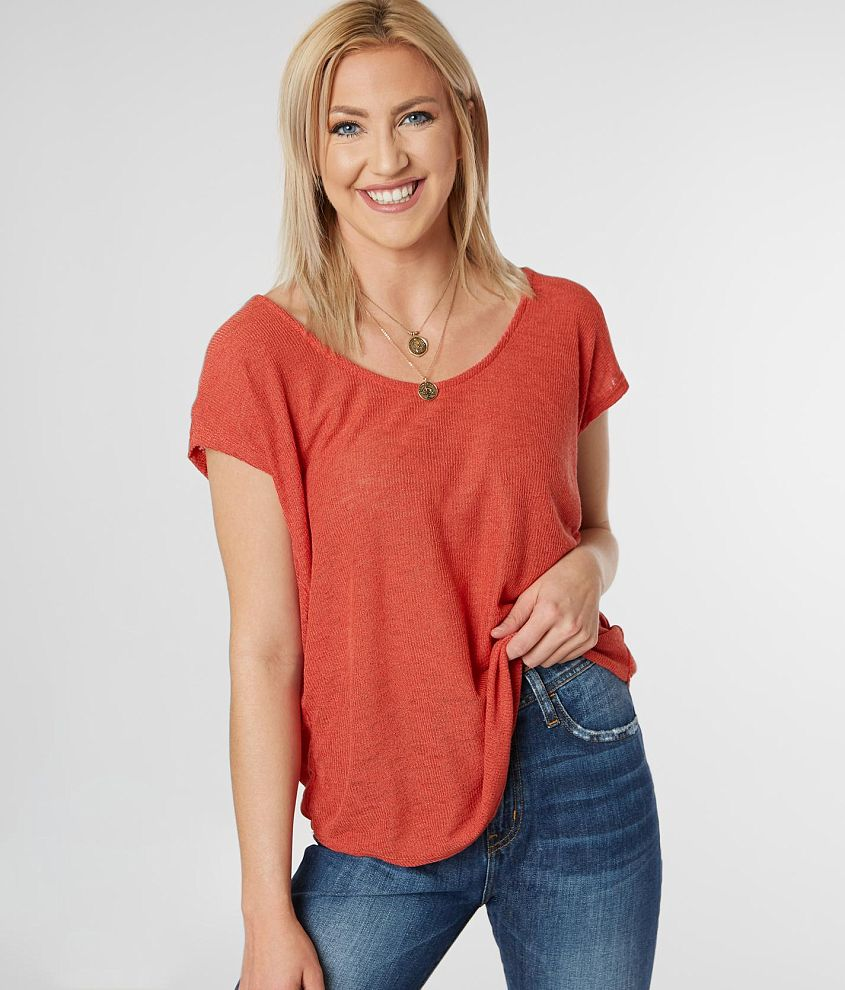 d68673d8c9998f Daytrip Back Surplice Top - Women's Shirts/Blouses in Rust | Buckle ...