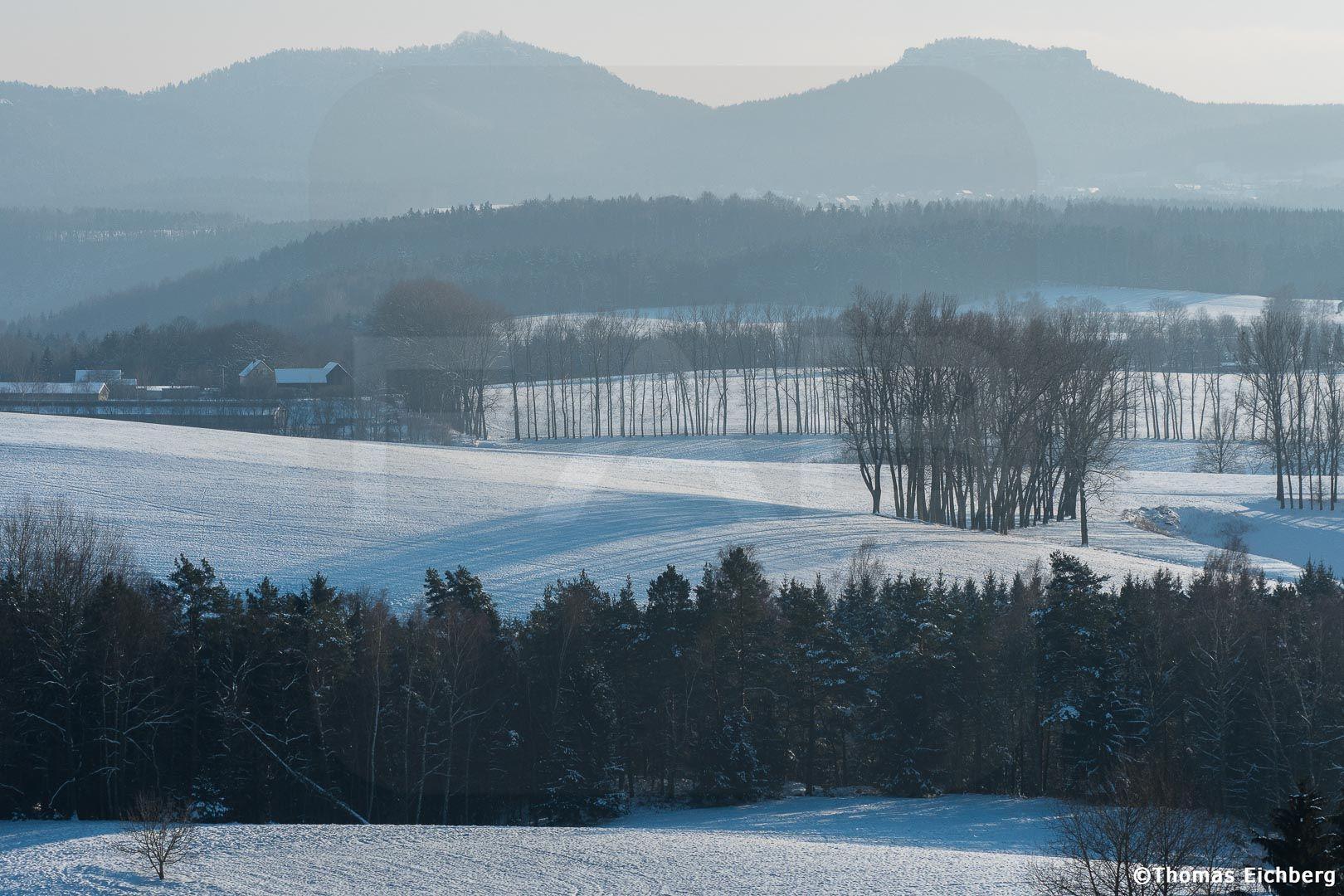 Winter adé im Elbsandsteingebirge. Das waren die letzten Flocken für 2016.