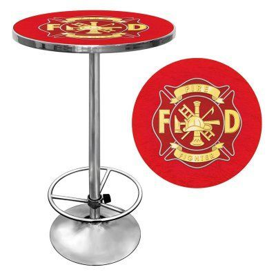 Trademark Global Fire Fighter Pub Table - FF2000, Durable