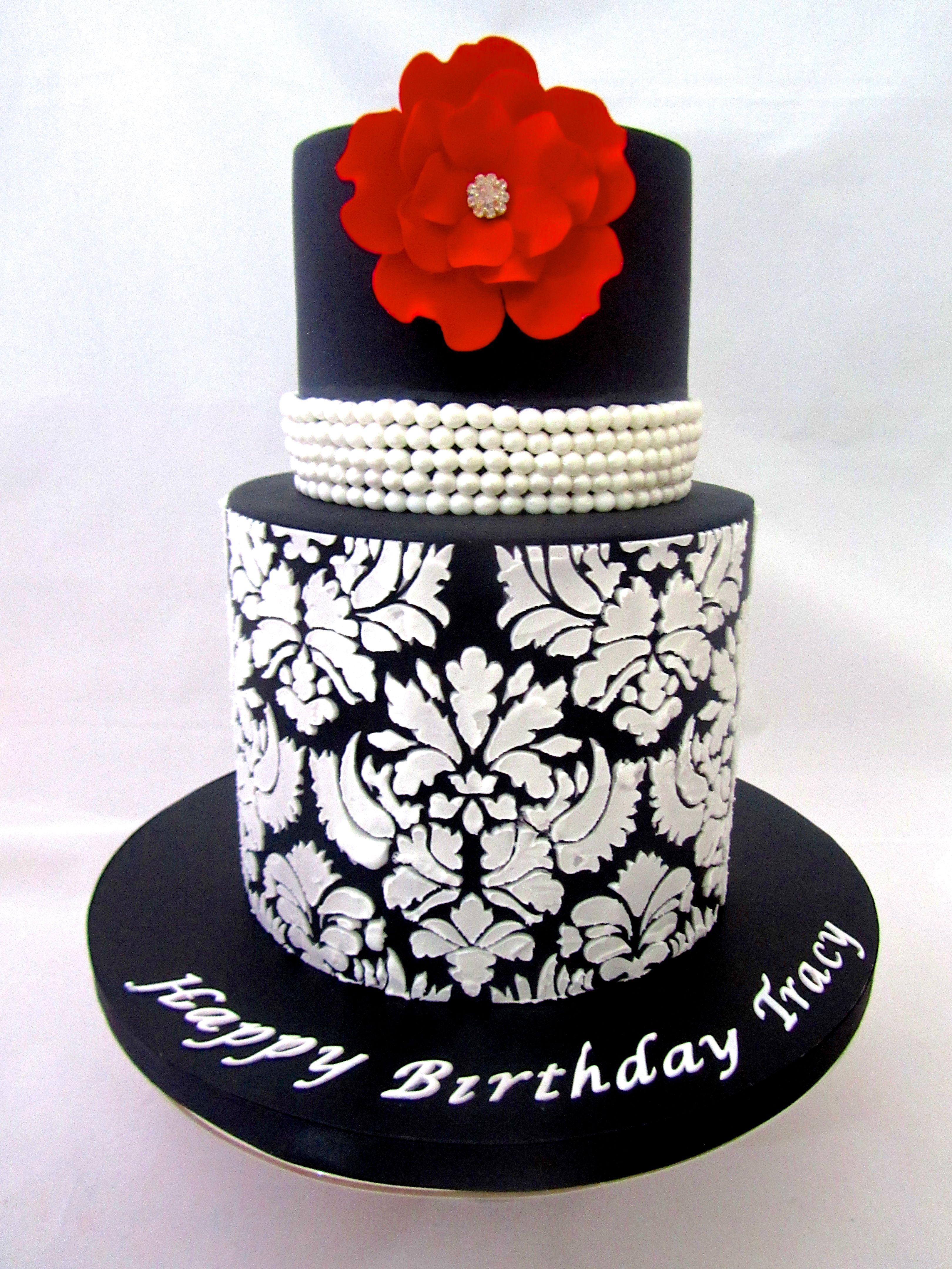 Elegant Birthday Cake Cake Ideas Pinterest Elegant birthday