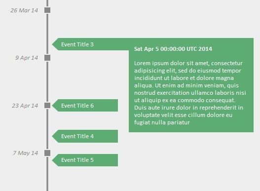 A simple, lightweight, vertical and animated jQuery \ jQuery UI - timeline resume