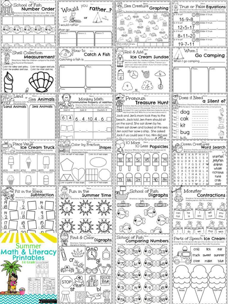 First Grade Summer Worksheets Planning Playtime Summer Worksheets Summer Workbooks First Grade Worksheets