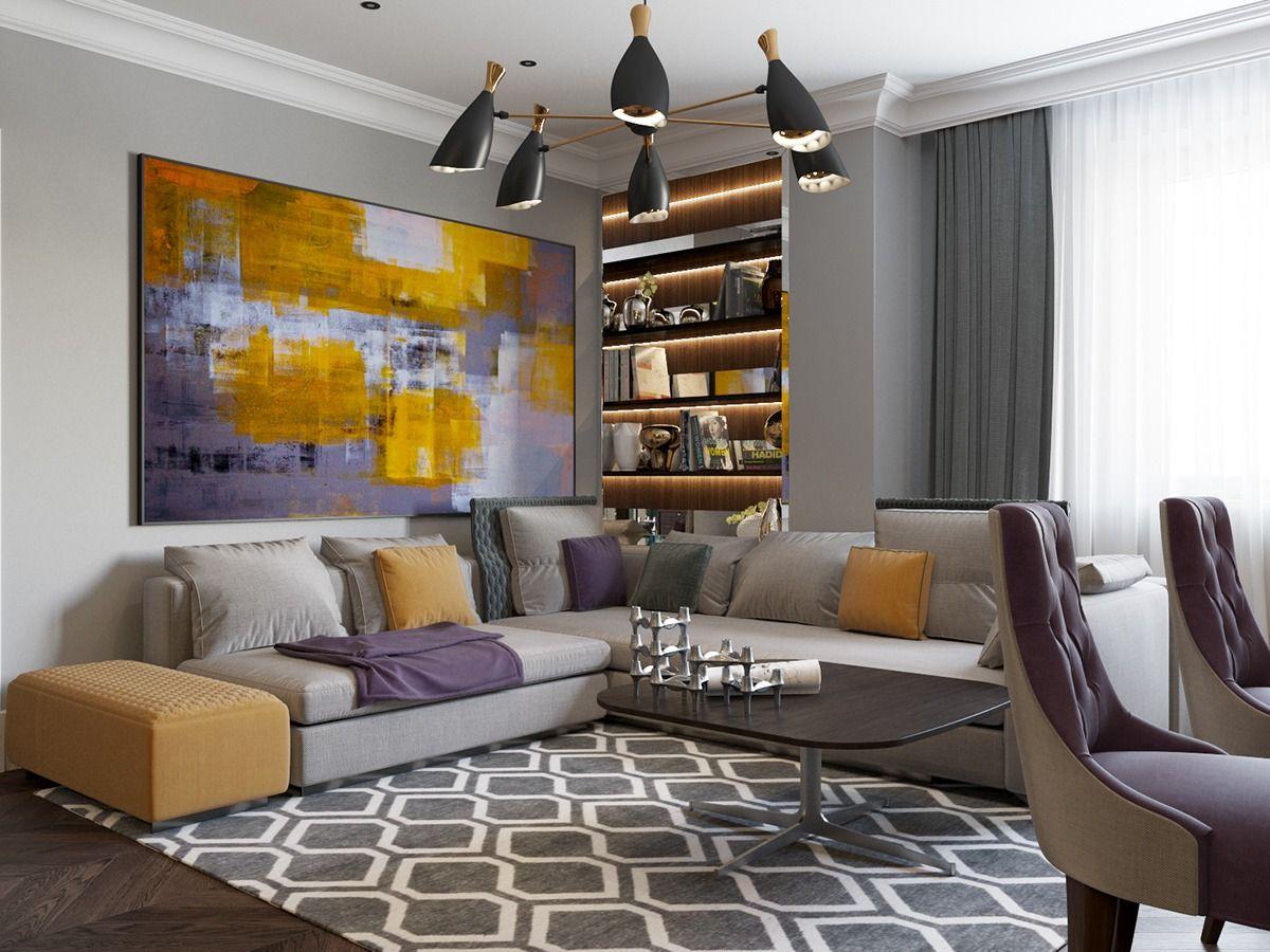 Décorer un intérieur avec un style Art Déco | Tableau coloré, Art ...