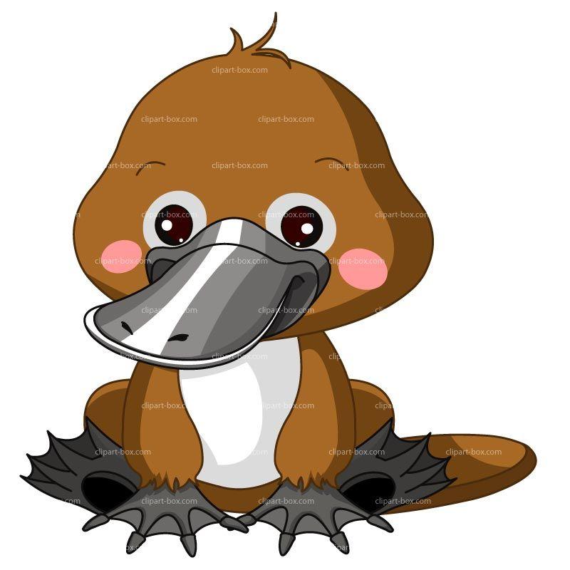 cartoon platypus clipart platypus cartoon royalty free vector rh pinterest ie platypus face clipart platypus clipart