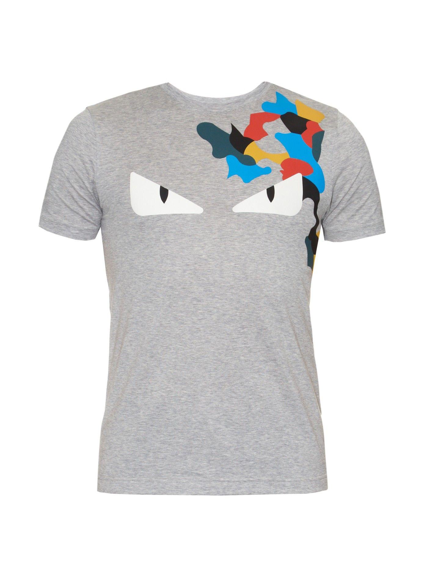 e0354cd224d Fendi flecked print T-shirt