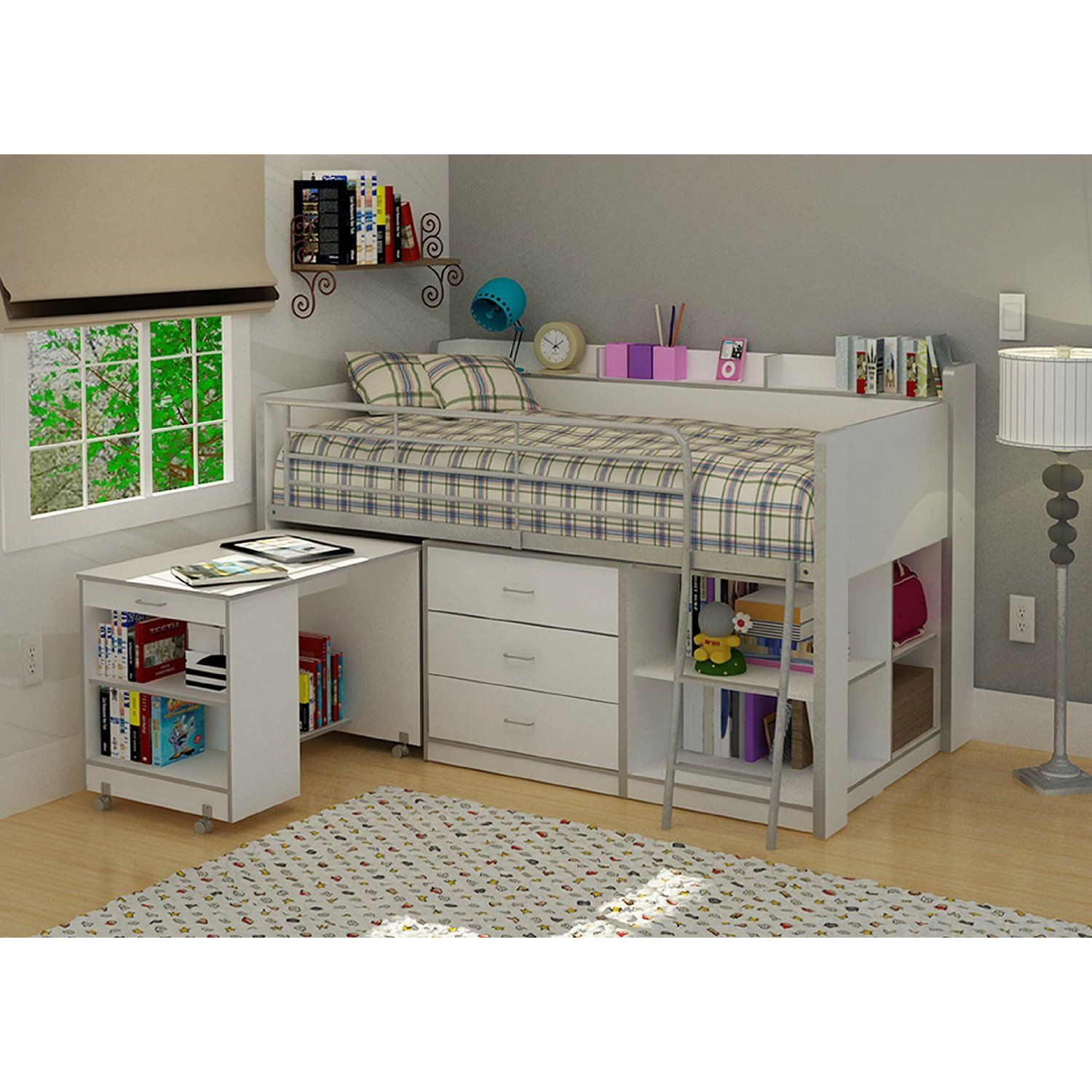Rack Furniture Clairmont Loft Bed White Cute And About