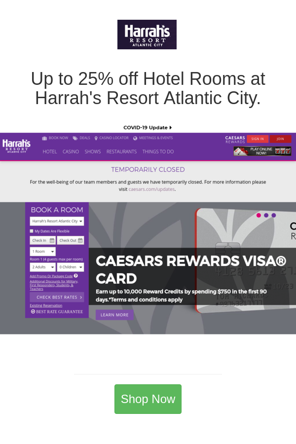 Best Deals And Coupons For Harrah S Atlantic City Atlantic City Harrah Atlantic City Resorts