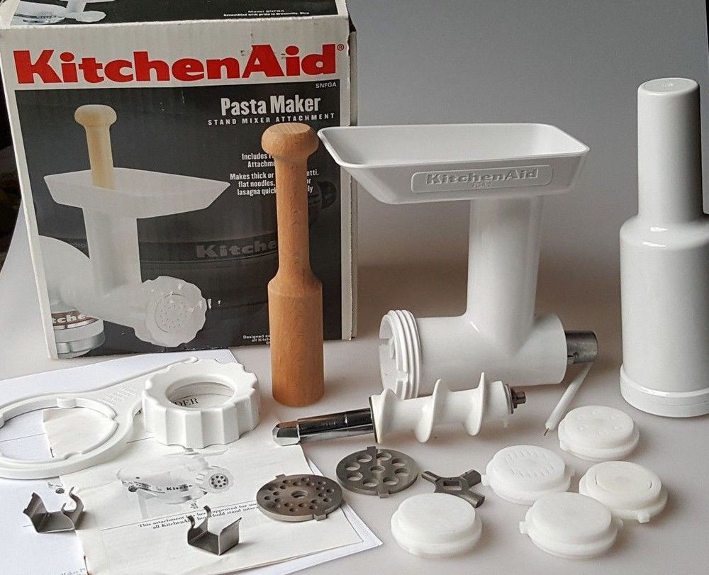 Kitchen Aid Pasta Press With Food Grinder Stand Mixer Attachment