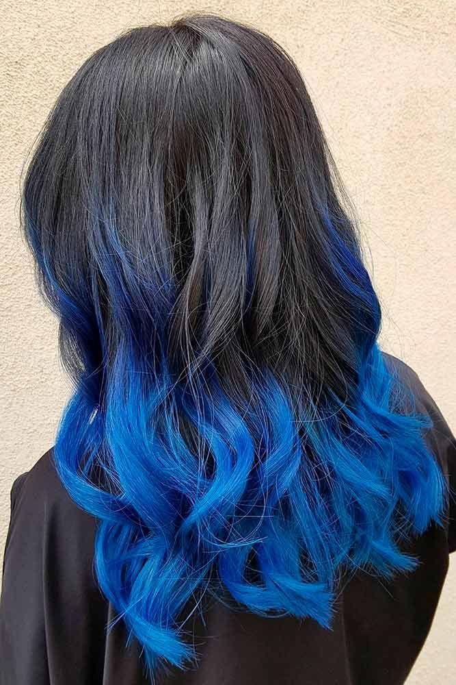 30 Best Dark Ombre Hair Ideas Dark Ombre Hair Blue Ombre Hair Blue Tips Hair