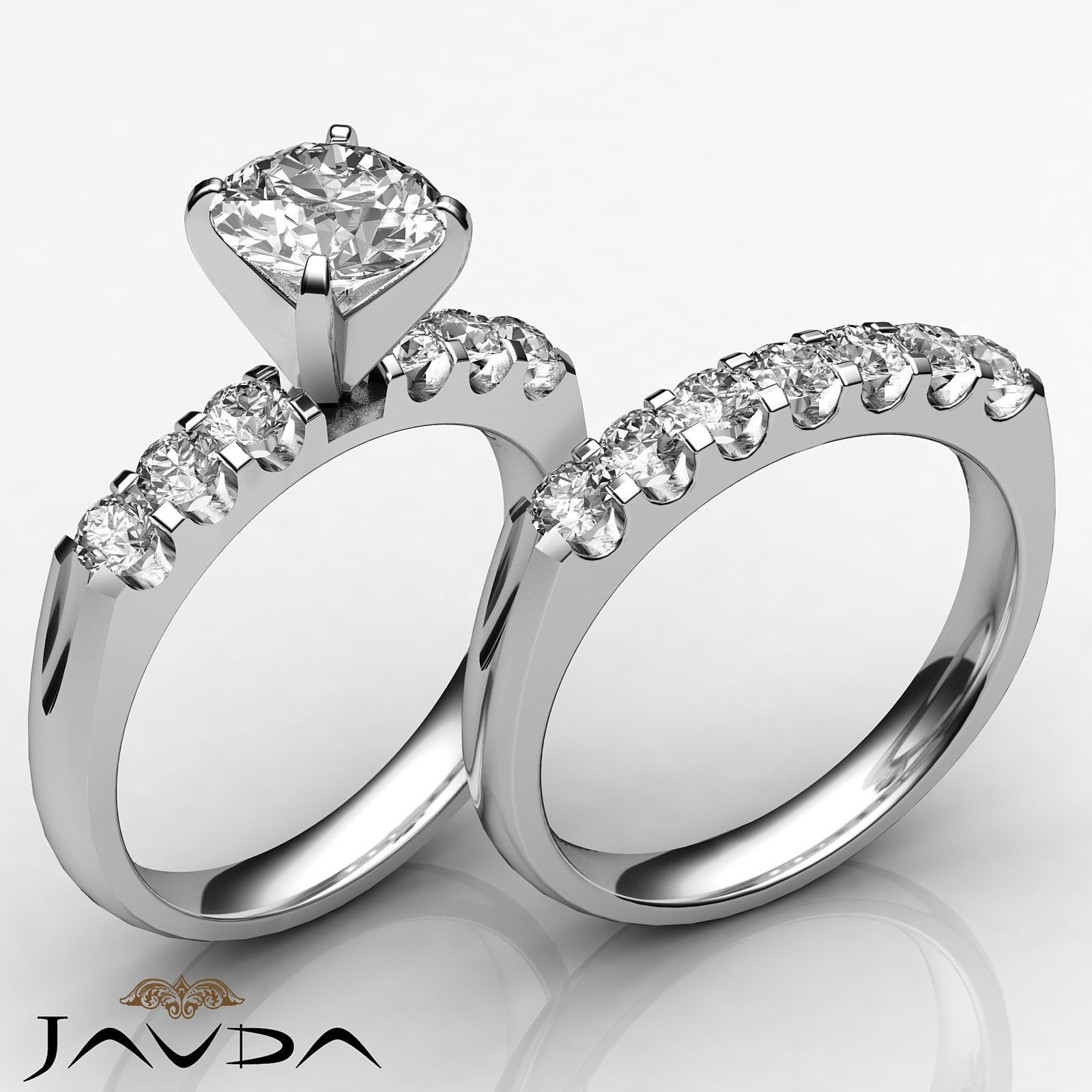 Round Diamond Women's Engagement Bridal Set Ring GIA I VS2 14k White Gold 1 8 Ct | eBay