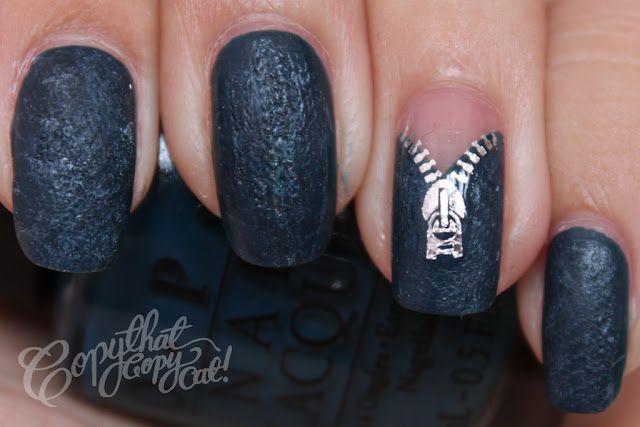 Zipper nails  by Copy that Copycat.