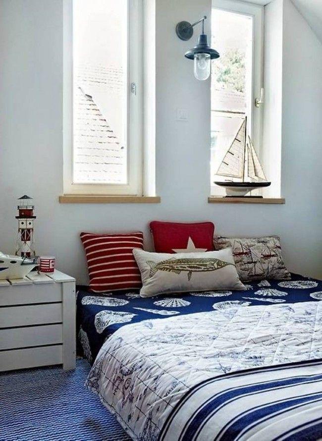 Maritimes Schlafzimmer U2013 Schlafzimmer In Weiß Und Blau Einrichten |  Pinterest | Blaue Bettwäsche, Maritim Und Bettwaesche