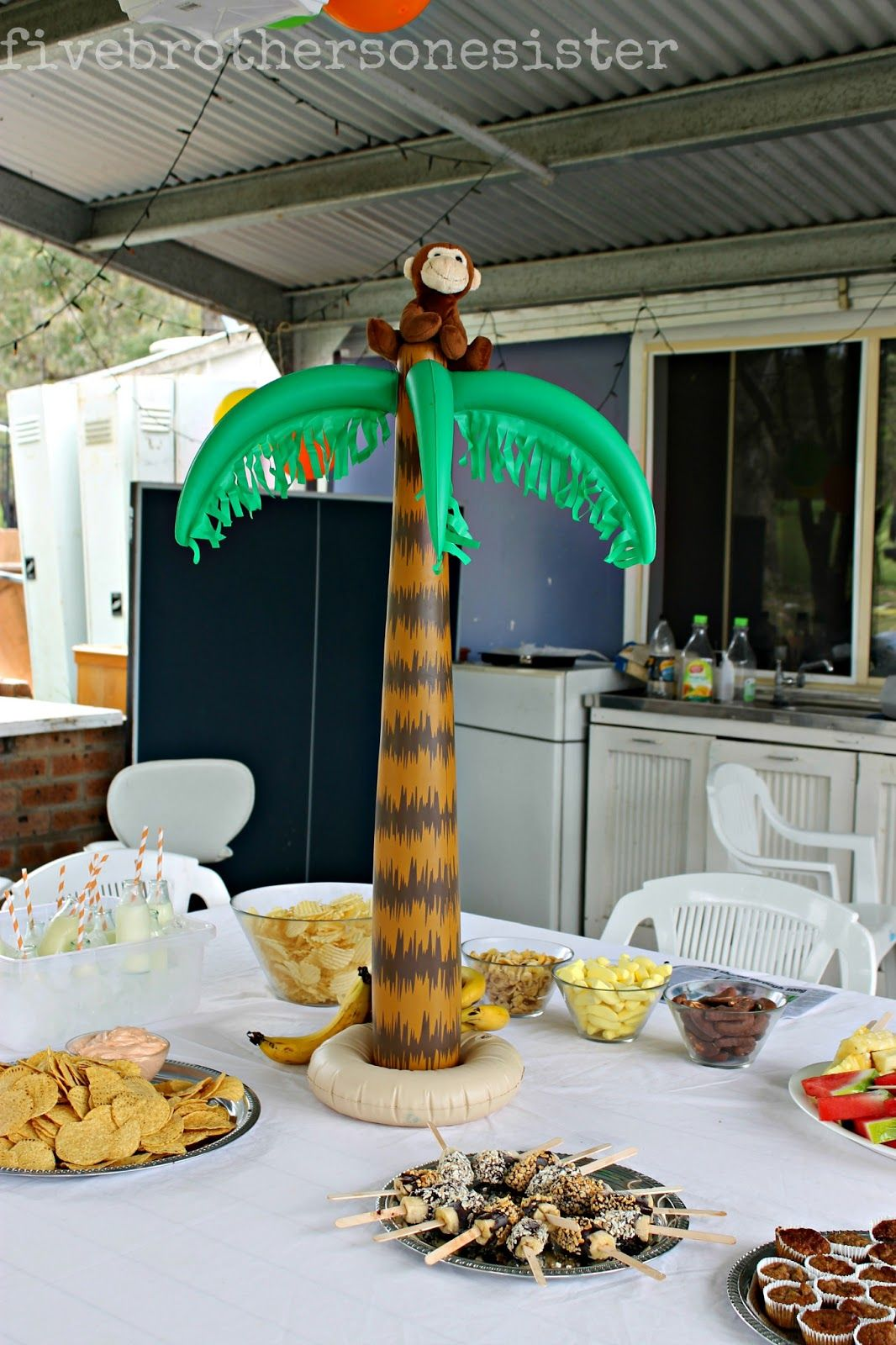 Five Brothers One Sister Funky Monkey Party Yummy Themed Food Ideas