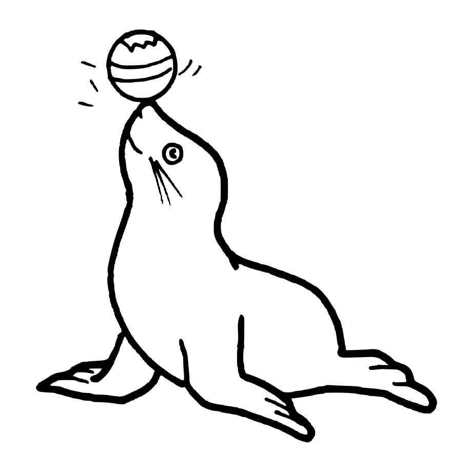 Free printable seal coloring page. | crafts | Pinterest