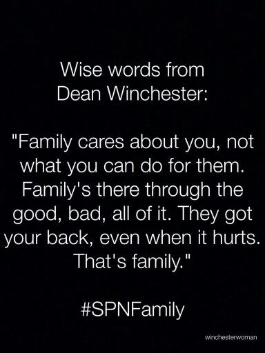 Family Dont End With Blood Team Free Will Supernatural