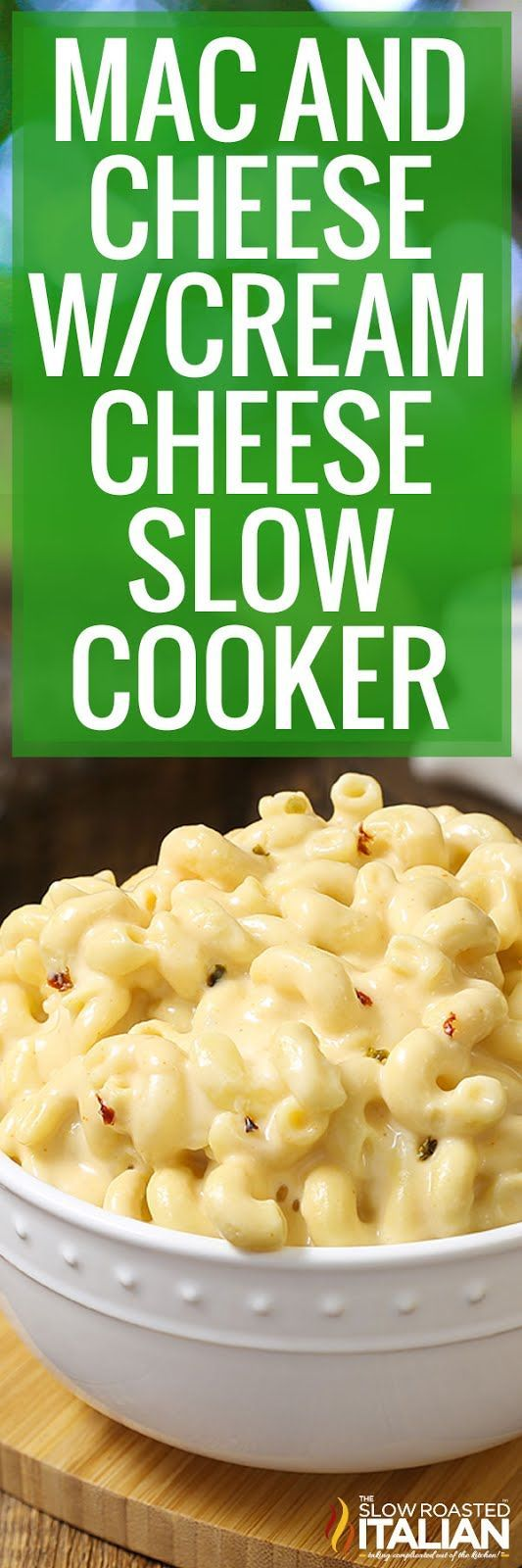 Mac And Cheese With Cream Cheese Slow Cooker Video Crockpot Recipes Slow Cooker Mac And Cheese Homemade Pasta Dishes