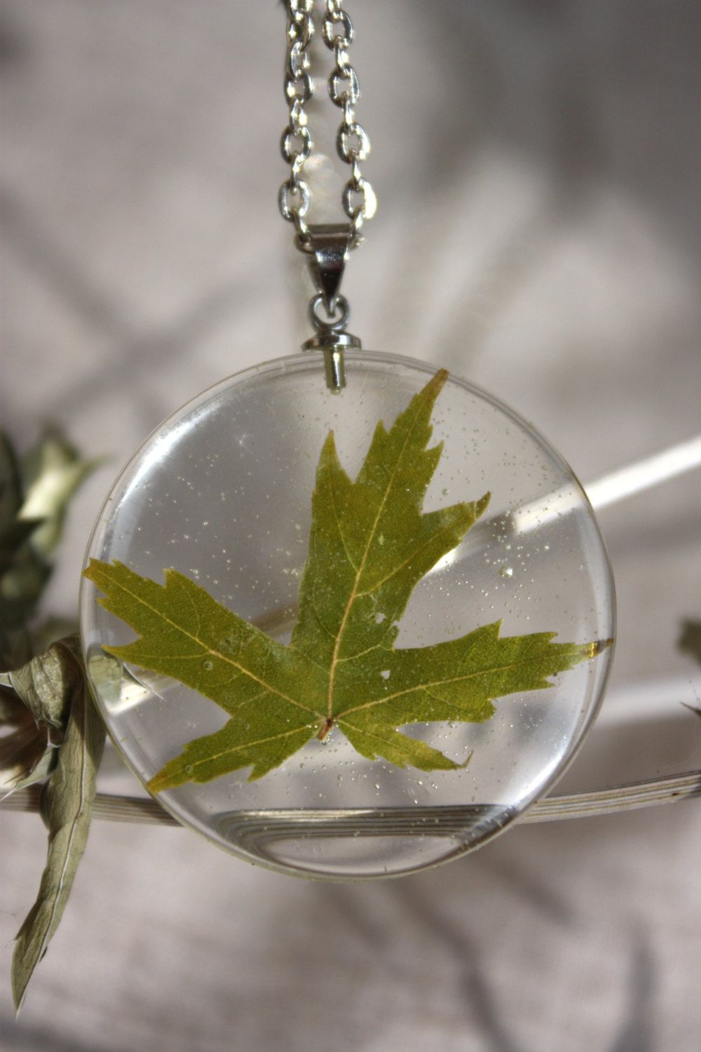 leaf products metalsmiths silver sterling natural pendant maple us