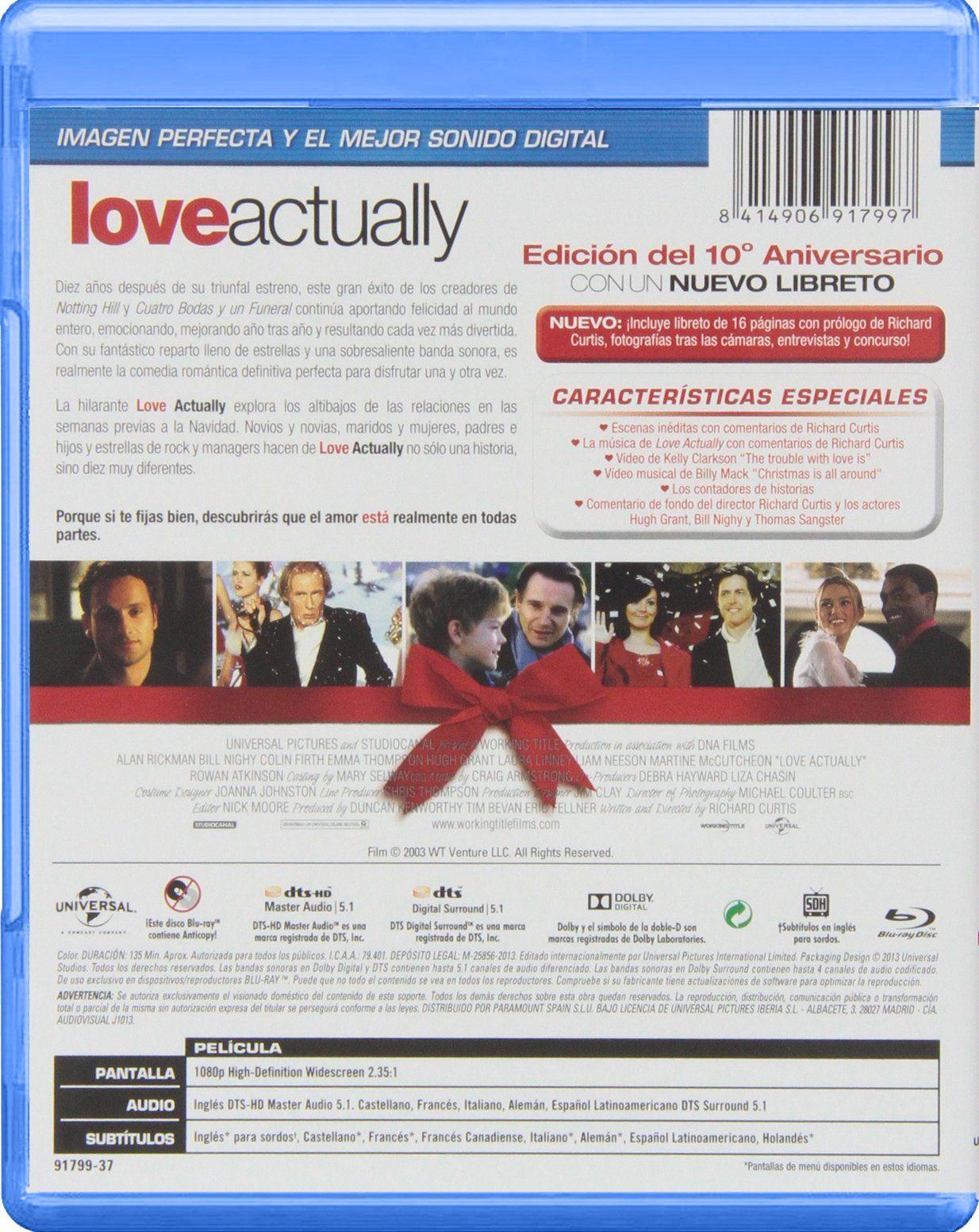 Love Actually Edici N 10o Aniversario Blu Ray Edici Love