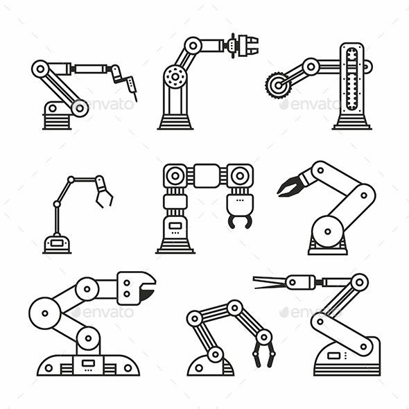 Industrial Robot Arm Industrial Robots Robot Arm Robot Illustration