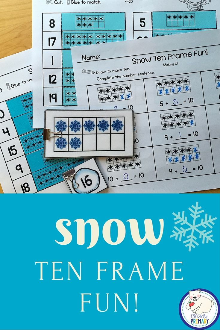 Ten Frames: Snow | Ten frames, Worksheets and Students